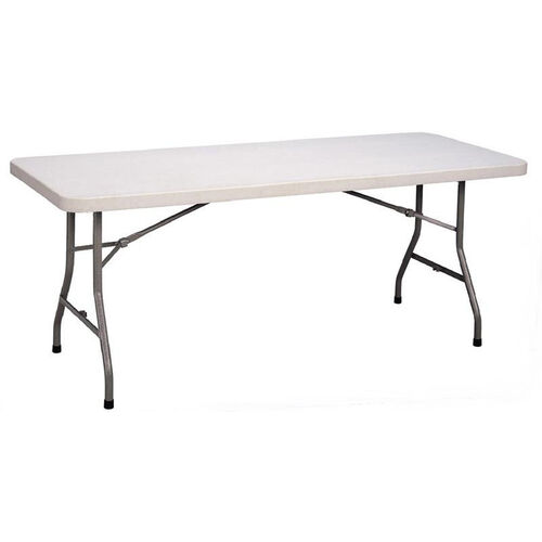 Our Blow-Molded Plastic Top Rectangular Food Service Table - 30