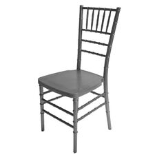 1000 lb. MAX Silver Resin Steel Core Chiavari Chair