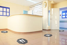 """Stick and Stand Floor Mat - Set of 6 - 17""""W x 17""""D"""