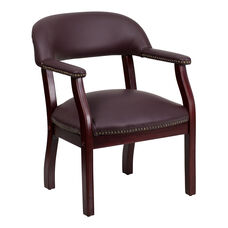 Burgundy Top Grain Leather Conference Chair