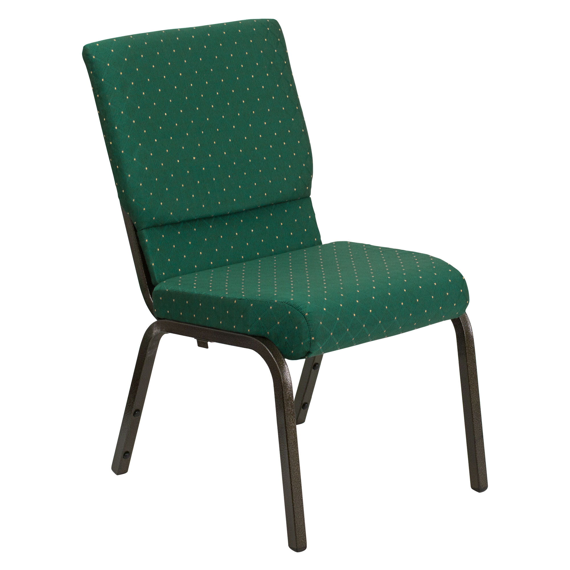 Green Fabric Church Chair Xu Ch 60096 Gn Gg