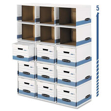 Bankers Box® File/Cube Box Shell - Legal/Letter - 12 x 15 x 10 - White/Blue