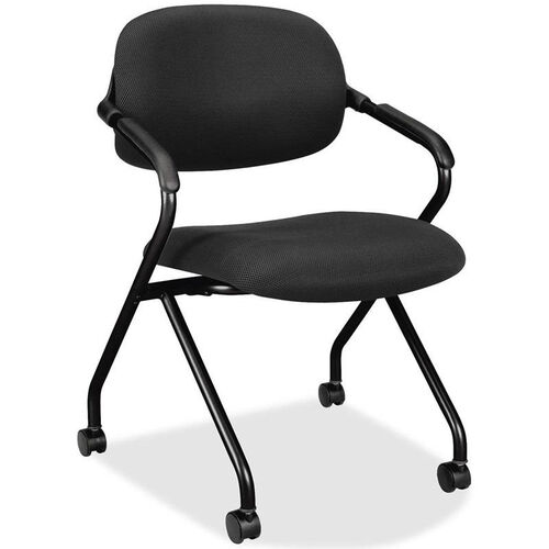 Our Basyx Black Frame Nesting Armchair with Castors is on sale now.