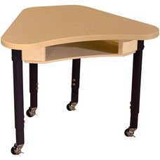 Mobile Synergy Classroom High Pressure Laminate Desk with Adjustable Steel Legs - 30