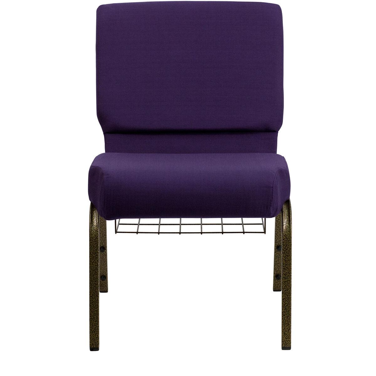 Purple Fabric Church Chair Fd Ch0221 4 Gv Roy Bas Gg