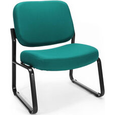 Big & Tall Guest and Reception Fabric Chair - Teal