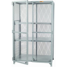 Welded Storage Locker with 2 Adjustable Center Shelves
