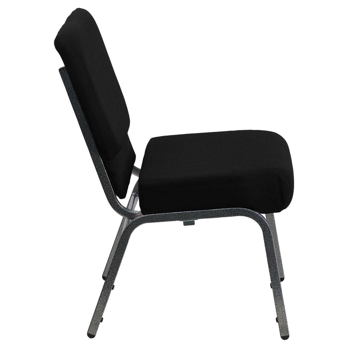 Hercules Series 21 W Stacking Church Chair In Black