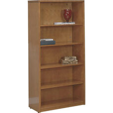 OSP Furniture Kenwood Hardwood Veneer 5-Shelf Bookcase with Adjustable Shelving