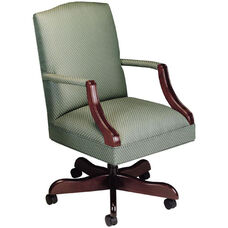 Quick Ship Value Traditional Martha Washington Management Swivel Chair