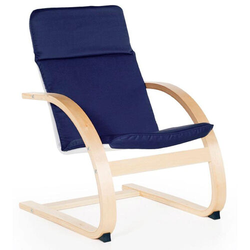 Our Kiddie Rocker with Removable Cushion and Steam-Bent Plywood Construction - Blue - 16