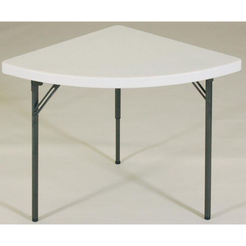 Our Blow-Molded Plastic Top Wedge Food Service Table is on sale now.