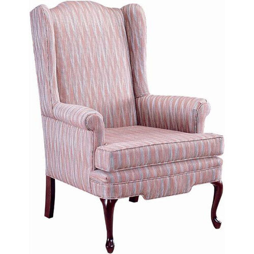 Our 5225 Wing Chair with Spring Back & Seat, Queen Anne Legs - Grade 1 is on sale now.