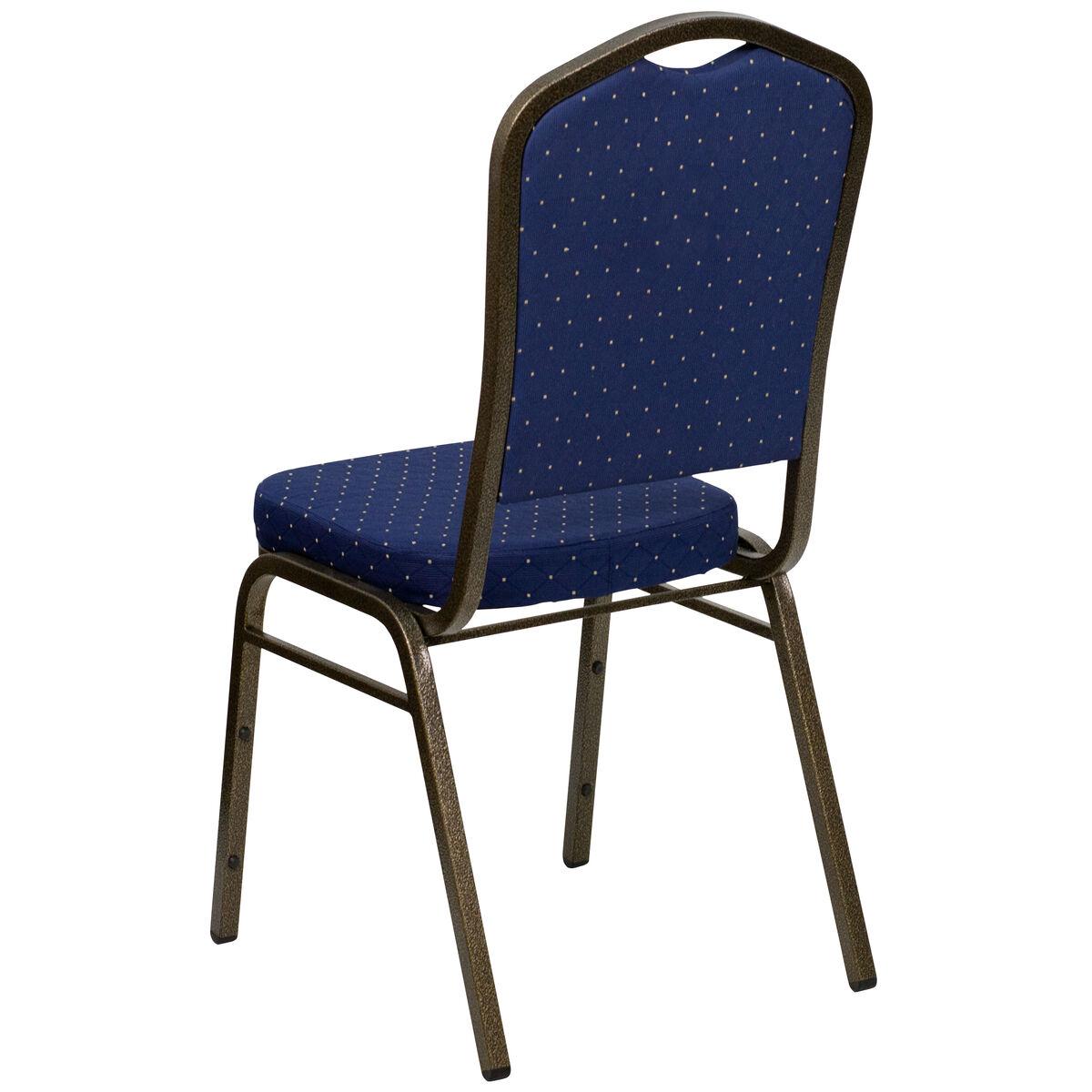 Navy Blue Fabric Banquet Chair Fd C01 Goldvein S0810 Gg