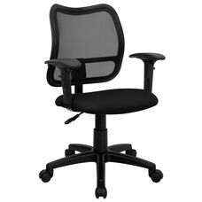 Mid-Back Mesh Swivel Task Chair with Adjustable Arms