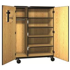 Denali 1000 Series Mobile Teacher Storage w/ Doors & 4 Adjustable Shelves