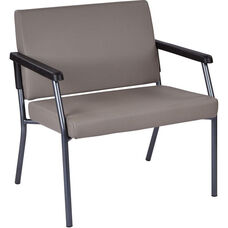 Work Smart Bariatric Big & Tall Guest Chair with 500 lb. Weight Capacity - Dillion Stratus Antimicrobial Vinyl