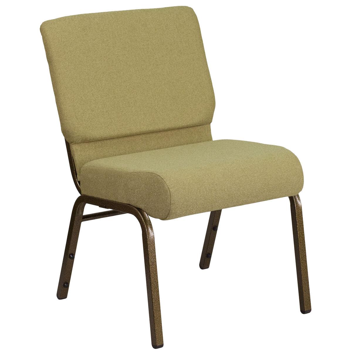 Moss Green Fabric Church Chair FD-CH0221-4-GV-GN-GG
