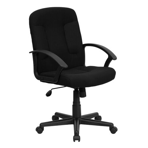 Mid-Back Fabric Executive Swivel Chair with Nylon Arms