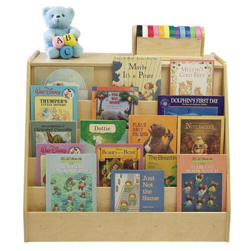 Our Birch Double Sided Book Display and Storage Unit with Two 12