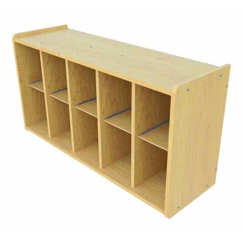 1000 Series Wall Mounted Coat Rack Storage with 10 Cubbies