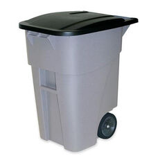 Rubbermaid Commercial Products BRUTE Rollout Container with Lid - 28