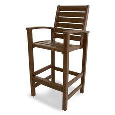 POLYWOOD® Signature Bar Chair - Mahogany