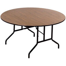 Laminate Top Particleboard Core Round Folding Seminar Table - 48