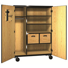 Denali 1000 Series Mobile Teacher Storage with Doors, 2 Adjustable Shelves, and 2 File Drawers