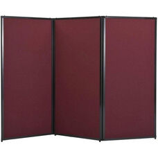 3 Panel 7'6'' Wide x 88'' Tall Privacy Screen - Fabric