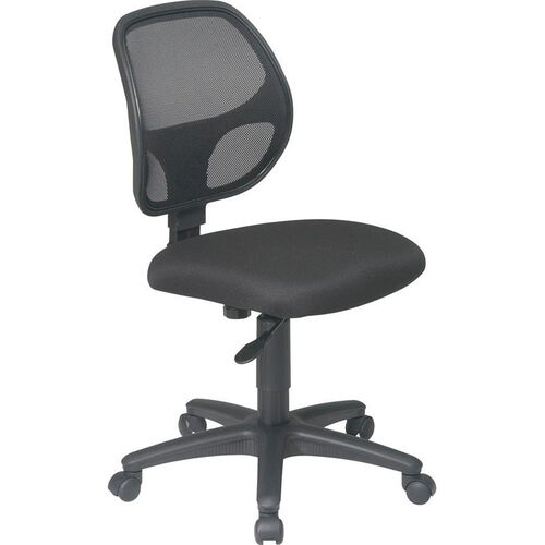 Our Work Smart Mesh Screen Back Armless Swivel Task Chair with Casters - Black is on sale now.