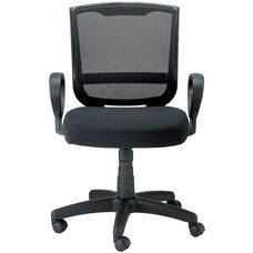 Maze Mid Back 24'' W x 21.45'' D x 36'' H Adjustable Height Mesh Chair with Loop Arms - Black