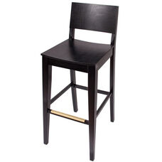 Dover Ebony Wood Barstool - Wood Seat