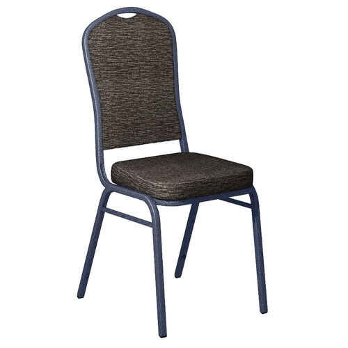Our Culp Fandango Ebony Fabric Upholstered Crown Back Banquet Chair - Silver Vein Frame is on sale now.