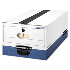 Bankers Box® LIBERTY Plus Storage Box - Legal - String/Button - White/Blue - 12/Carton