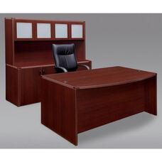 Fairplex Executive Desk and Storage Suite - Mahogany
