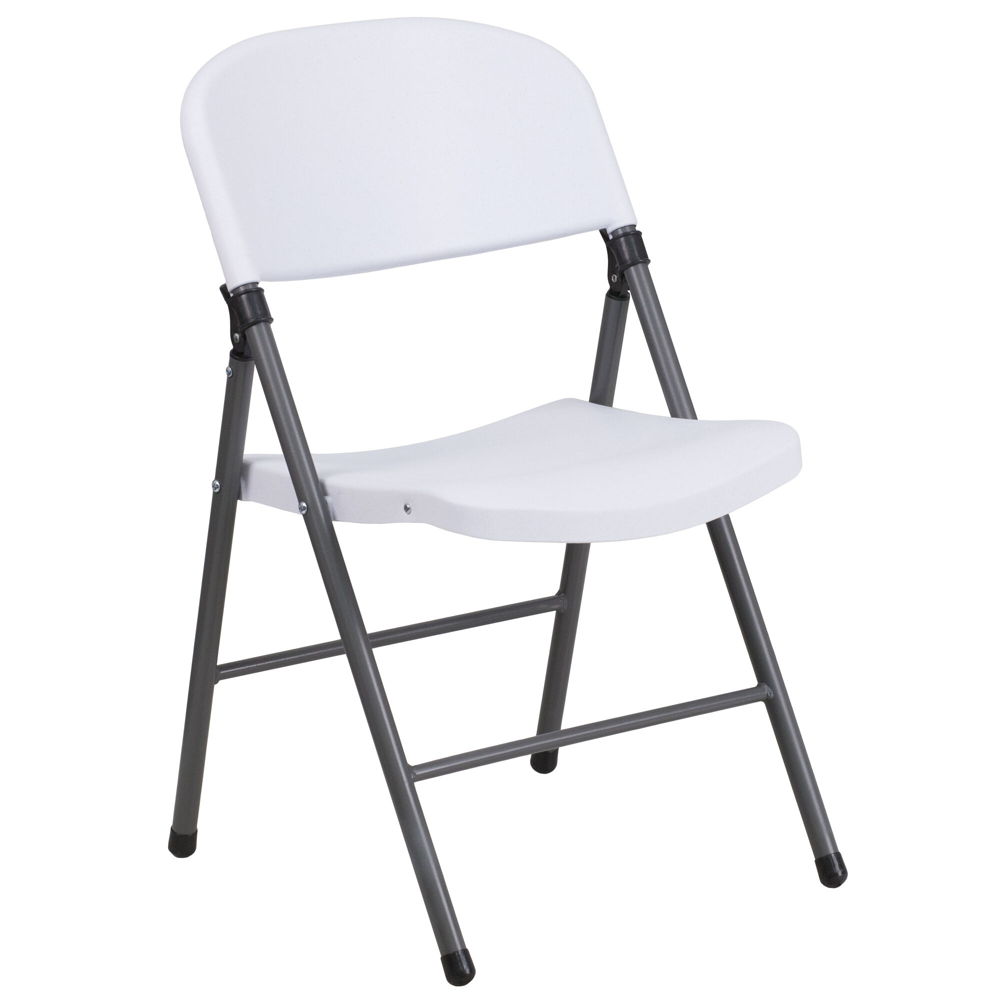 Awe Inspiring Hercules Series 330 Lb Capacity Granite White Plastic Folding Chair With Charcoal Frame Interior Design Ideas Apansoteloinfo