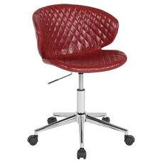 Cambridge Home and Office Upholstered Mid-Back Chair in Red Vinyl