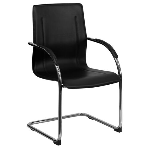 Our Black Vinyl Side Reception Chair with Chrome Sled Base is on sale now.