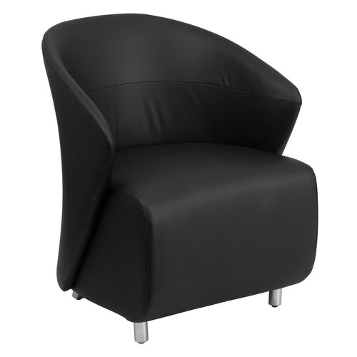 Our Black LeatherSoft Curved Barrel Back Lounge Chair is on sale now.