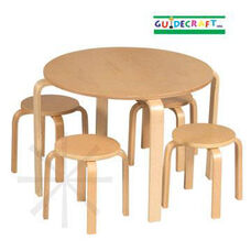 Nordic Table & 4 Stools Set