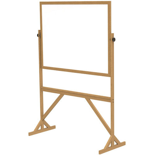 Our Reversible Double Sided Non-Magnetic White Board with Wooden Frame - 55