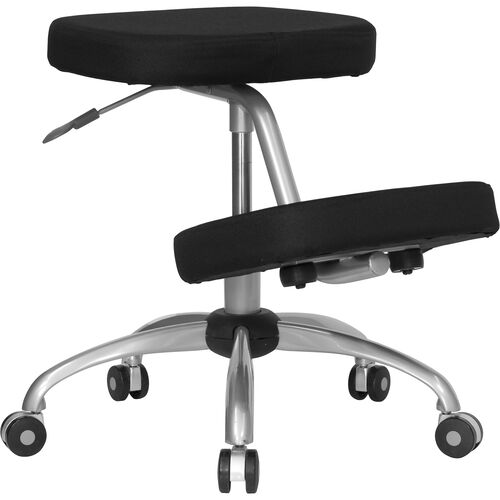 Our Mobile Ergonomic Kneeling Office Chair with Silver Frame in Black Fabric is on sale now.