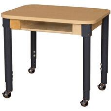 Mobile Classroom High Pressure Laminate Desk with Adjustable Steel Legs - 24