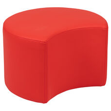 "Soft Seating Collaborative Moon for Classrooms and Daycares - 12"" Seat Height (Red)"