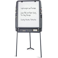 Portable Flipchart Easel with Dry Erase Surface - Charcoal