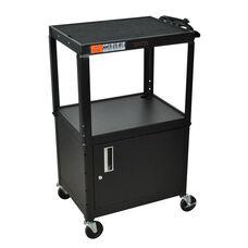Black Metal Utility Cabinet & Audio Visual Cart