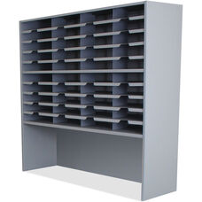 Mailroom 48'' H x 48'' W Forty Pocket Sorter Riser -Slate Gray