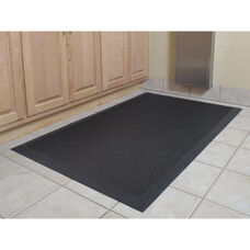 Anti-Fatigue Black Cushion Station Floor Mat