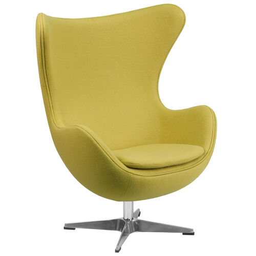 Our Citron Wool Fabric Egg Chair with Tilt-Lock Mechanism is on sale now.